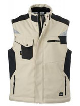 James & Nicholson | JN 825 | Workwear Winter Softshell Gilet