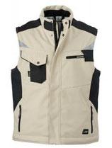James & Nicholson | Workwear Winter Softshell Gilet | JN 825