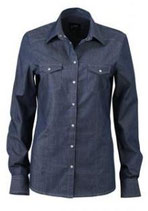 James & Nicholson | JN 628 | Denim Bluse