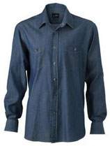 James & Nicholson | Denim Hemd | JN 629