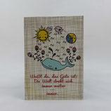 """Postkarte """"Weißt du..."""" von tigapigs"""