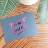 "Lesezucker Postkarte ""Du bist genug"" - SPENDENAKTION"