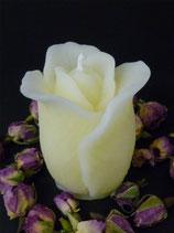 Rose stehend aus gebleichtem Bienenwachs
