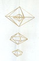Quatre diamants en paille de seigle