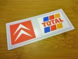 """Autocollant lunette arrière """"Citroën / Total"""" 1990-2000"""