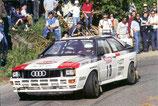 """Autocollant """"1er au championnat du monde des rallyes 1982"""" Audi quattro"""