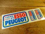 """Autocollants """"Coupe 104 ZS Esso Peugeot"""""""