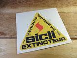 """Autocollant """"Véhicule protégé par SICLI extincteur"""" rallye competition"""