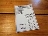 Autocollant Pressions pneus Peugeot 185/60/14