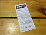 Etiquette de vidange autocollante ELF années 90