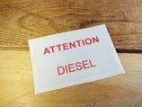 """Autocollant """"Attention diesel"""" Peugeot"""