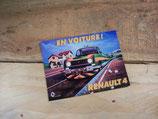 """Autocollant publicité Renault 4 """"En voiture!"""" (2)"""