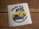 "Autocollant rond ""Citroen 2CV En avant Citroën!"""