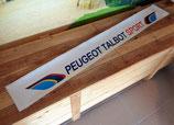 """Bandeau pare-soleil """"Peugeot Talbot Sport"""" blanc (Version impression longue taille)"""