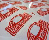 """Autocollant """"plaque rallye Monte Carlo"""" - Années 1958 à 1999"""