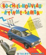 """Bandeau autocollant """"80ch le nouveau rythme Samba"""" GLS"""