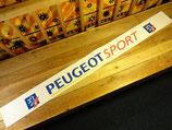 """Bandeau pare-soleil autocollant """"Peugeot sport"""" blanc"""
