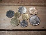 Assortiment de 8 pièces, de 5 centimes à 10 francs