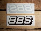 """2 Autocollants logo """"BBS"""" 1ère génération (1 extérieur + 1 intérieur)"""