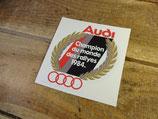 """Autocollant """"Champion du monde des rallyes 1984"""" Audi quattro"""