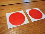 """Autocollants """"Ronds rouges réfléchissants de signalisation"""" pour portières"""