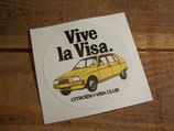 """Autocollant rond """"Vive la Visa"""""""