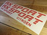 Kit déco pour Citroën AX Sport phase 1 (sans liserés)