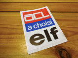 """Autocollant """"ACL a choisi Elf"""" Renault Rodeo 6"""
