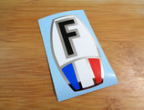 "Autocollant ""F France"" chrome simple"