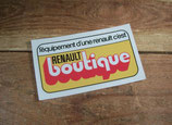 """Autocollant """"Renault boutique"""" (3 modèles)"""