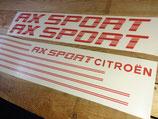 Kit déco pour Citroën AX Sport phase 2 (avec liserés)