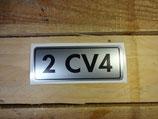 "Autocollant ""2cv4"" logo de hayon"