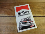 "Autocollant ""Marlboro Championnat Production - Magny-cours"" (1985) BMW M5 E28"