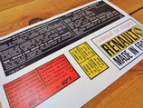 Stickers engine compartment Renault USA