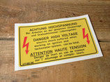 """Autocollant """"Attention haute tension"""" Porsche"""