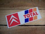 """Autocollant lunette arrière """"Citroën / Total"""" 1987-1989"""