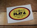 "Autocollant ""Flat 4 - Tokyo - Santa Monica - Since 1976"""