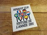 """Autocollant """"Voiture de l'année 1991"""" Renault Clio"""