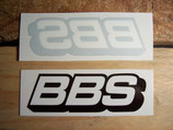 """2 autocollants logo """"BBS"""" 2de génération (1 intérieur + 1 extérieur)"""