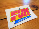 "Autocollant ""FUN radio"" 2ème version (1990-1998)"