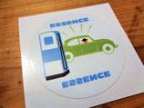 """Autocollant Station essence """"1000 bornes"""" VW Coccinelle"""
