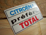 """Autocollant lunette arrière """"Citroën préfère Total"""""""