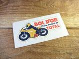 "Autocollant ""BOL D'OR l'huile motard TOTAL"" motos anciennes"