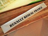 """Bandeau pare-soleil autocollant """"Renault réseau France"""""""