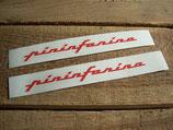 "Autocollants de custodes ""Pininfarina"" rouges"