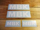 4 autocollants lettrage MBK