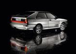 """Autocollants de vitres arrières """"Quattro"""" Audi"""
