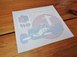 """Autocollant """"Elf 1er championnat du monde F1"""" Matra MS80 (1969)"""