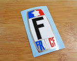 "Autocollant ""F France"" chrome logo France"
