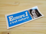 "Autocollant ""Europe 1 c'est naturel - Philipe Gildas / Maryse"""